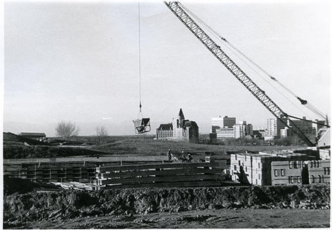Diefenbaker Canada Centre - construction