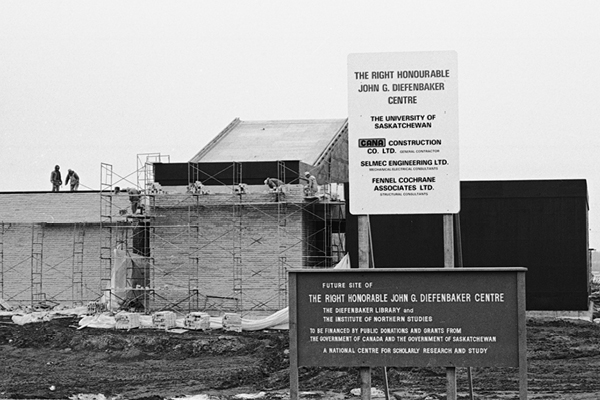 Construction of the Diefenbaker Canada Centre
