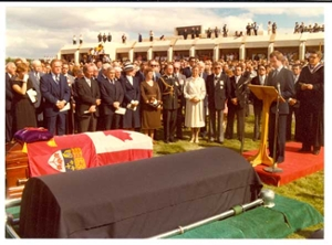 Diefenbaker funeral at the University of Saskatchewan