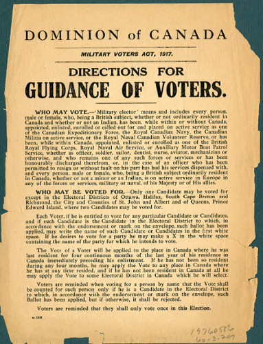 Guidance of voters