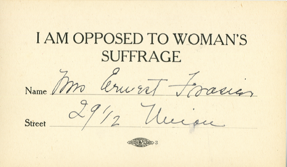 Opposed to suffrage